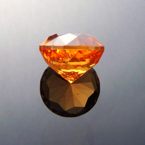 Fanta Orange Mandarin Spessartite Garnet, Antique Round 1910, #353 - Doug Menadue :: Bespoke Gems - Master gemcutter and lapidary artist specialising in fine custom cut precision gems from a wide range of select facet gem rough. Located in Sydney, Australia.