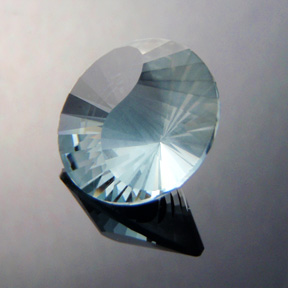 Natural Blue Topaz, Yin-Yang, Africa, #367 - Doug Menadue :: Bespoke Gems - Master gemcutter and lapidary artist specialising in fine custom cut precision gems from a wide range of select facet gem rough. Located in Sydney, Australia.