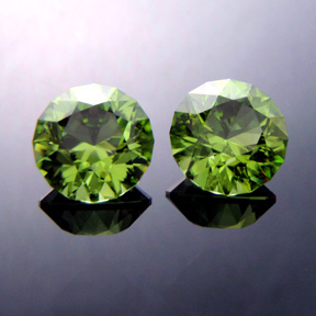 Pakistani Peridot, Round Brilliant, #368 - Doug Menadue :: Bespoke Gems - Master gemcutter and lapidary artist specialising in fine custom cut precision gems from a wide range of select facet gem rough. Located in Sydney, Australia.