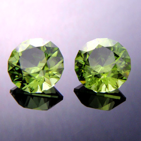 Peridot, Round Brilliant, Pakistan, #368