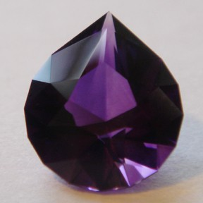 Amethyst, Brilliant Pear, #38 - Doug Menadue :: Bespoke Gems - Master gemcutter and lapidary artist specialising in fine custom cut precision gems from a wide range of select facet gem rough. Located in Sydney, Australia.