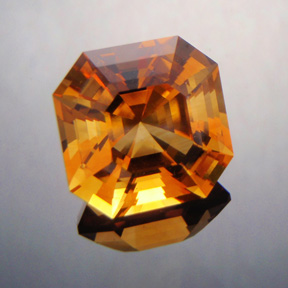 Rio Grande Citrine, Asscher Cut, #396 - Doug Menadue :: Bespoke Gems - Master gemcutter and lapidary artist specialising in fine custom cut precision gems from a wide range of select facet gem rough. Located in Sydney, Australia.
