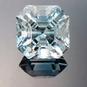 Natural Blue Topaz, Asscher Cut, O'Briens Creek, Australia, #402