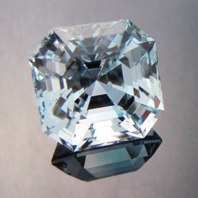 Natural Blue Topaz, Asscher Cut, O'Briens Creek, Mt Surprise, North Queensland, Australia, #402