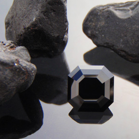 Black Spinel, Rubyvale, Central Queensland, Asscher, #449