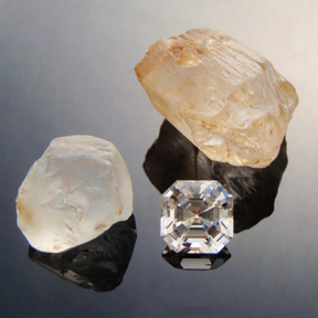 Topaz, Asscher, O'Briens Creek, Mt Surprise, Australia, #451