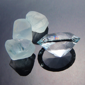 Natural Blue Topaz, Ten Main Oval, O'Briens Creek, North Queensland, Australia, #463