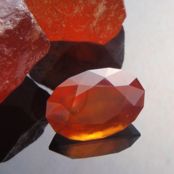 Spessartite Garnet, Mixed Brilliant Step Oval, Africa, #474