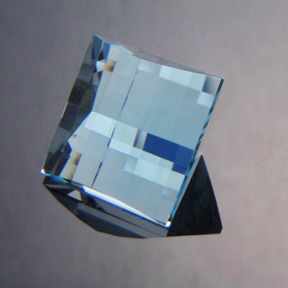 Natural Blue Topaz, Mock Check Square, Brazil, #475 - Doug Menadue :: Bespoke Gems - Master gemcutter and lapidary artist specialising in fine custom cut precision gems from a wide range of select facet gem rough. Located in Sydney, Australia.