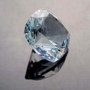 Natural Blue Topaz, Nigerian Cushion, O'Briens Creek, North Queensland, Australia, #494