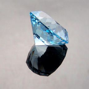 Natural Blue Topaz, Nigerian Cushion, Pakistan, #496