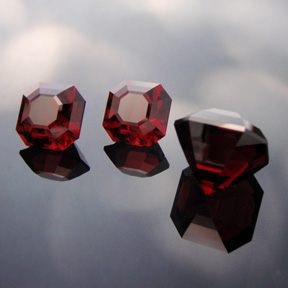 Malaia Garnet, Asscher Cut, Tanzania, #508 - Doug Menadue :: Bespoke Gems - Master gemcutter and lapidary artist specialising in fine custom cut precision gems from a wide range of select facet gem rough. Located in Sydney, Australia.