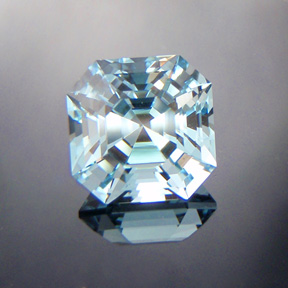 Natural Blue Topaz, Asscher Cut, #516
