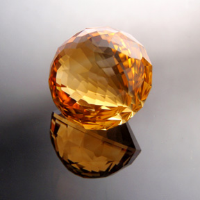 Flame Orange Citrine, Kalli, #521 - Doug Menadue :: Bespoke Gems - Master gemcutter and lapidary artist specialising in fine custom cut precision gems from a wide range of select facet gem rough. Located in Sydney, Australia.