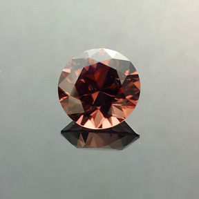 Zircon, Round Brilliant, Harts Ranges, Australia, #556 - Doug Menadue :: Bespoke Gems - Master gemcutter and lapidary artist specialising in fine custom cut precision gems from a wide range of select facet gem rough. Located in Sydney, Australia.