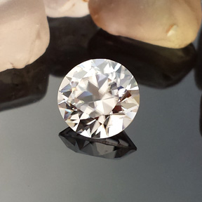 Zircon, Round Brilliant, Harts Ranges, Australia, #557 - Doug Menadue :: Bespoke Gems - Master gemcutter and lapidary artist specialising in fine custom cut precision gems from a wide range of select facet gem rough. Located in Sydney, Australia.
