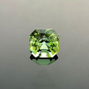 Green Tourmaline, Africa, Asscher, #564 - Doug Menadue :: Bespoke Gems - Master gemcutter and lapidary artist specialising in fine custom cut precision gems from a wide range of select facet gem rough. Located in Sydney, Australia.