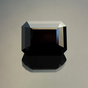 Black Spinel, Rubyvale, Australia, Emerald Cut, #571 - Doug Menadue :: Bespoke Gems - Master gemcutter and lapidary artist specialising in fine custom cut precision gems from a wide range of select facet gem rough. Located in Sydney, Australia.