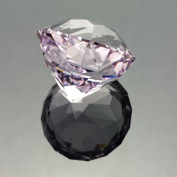 Rose de France Amethyst, Antique Round 1910, Brazil, #574