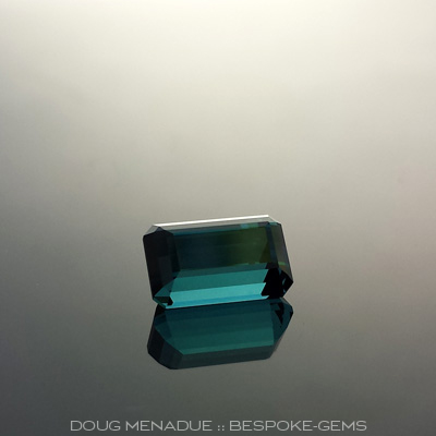 Indicolite Tourmaline, Nigeria, Emerald Cut, #616 - Doug Menadue :: Bespoke Gems - Master gemcutter and lapidary artist specialising in fine custom cut precision gems from a wide range of select facet gem rough. Located in Sydney, Australia.