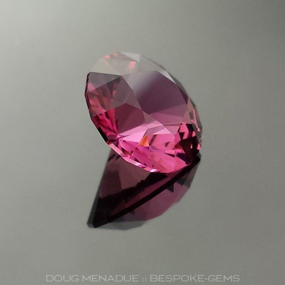 Hot Pink Tourmaline, Nigeria, Round Brilliant, #618 - Doug Menadue :: Bespoke Gems - Master gemcutter and lapidary artist specialising in fine custom cut precision gems from a wide range of select facet gem rough. Located in Sydney, Australia.