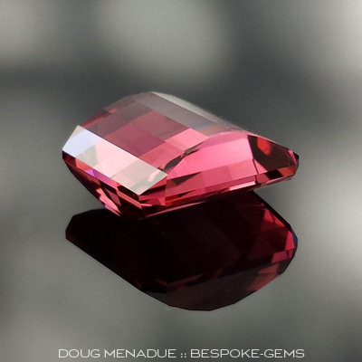 Tourmaline, Nigeria, Mock Check Double Charm, #625 - Doug Menadue :: Bespoke Gems - Master gemcutter and lapidary artist specialising in fine custom cut precision gems from a wide range of select facet gem rough. Located in Sydney, Australia.
