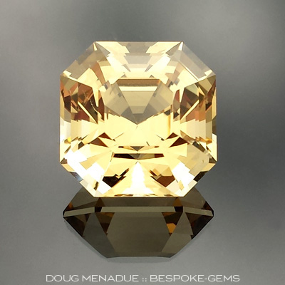 Golden Beryl, Asscher Cut, #635 - Doug Menadue :: Bespoke Gems - Master gemcutter and lapidary artist specialising in fine custom cut precision gems from a wide range of select facet gem rough. Located in Sydney, Australia.