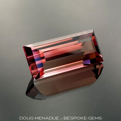 Pink Tourmaline, Brazil, Emerald Baguette, #646 - Doug Menadue :: Bespoke Gems - Master gemcutter and lapidary artist specialising in fine custom cut precision gems from a wide range of select facet gem rough. Located in Sydney, Australia.