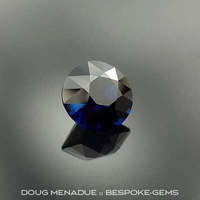 Cobolt Blue Sapphire, Lava Plains, Bicentennial Brilliant, #652 - Doug Menadue :: Bespoke Gems - Master gemcutter and lapidary artist specialising in fine custom cut precision gems from a wide range of select facet gem rough. Located in Sydney, Australia.