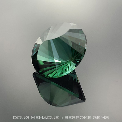 Teal Tourmaline, Nigeria, Yin Yang, #653 - Doug Menadue :: Bespoke Gems - Master gemcutter and lapidary artist specialising in fine custom cut precision gems from a wide range of select facet gem rough. Located in Sydney, Australia.