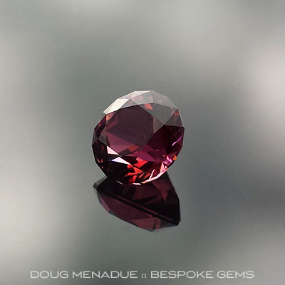 Rubellite Tourmaline, Nigeria, Antique Round 1910, #655 - Doug Menadue :: Bespoke Gems - Master gemcutter and lapidary artist specialising in fine custom cut precision gems from a wide range of select facet gem rough. Located in Sydney, Australia.