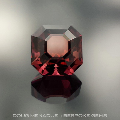 Rubellite Tourmaline, Brazil, Asscher, #656 - Doug Menadue :: Bespoke Gems - Master gemcutter and lapidary artist specialising in fine custom cut precision gems from a wide range of select facet gem rough. Located in Sydney, Australia.