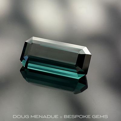 Indicolite Tourmaline, Africa, Emerald Cut, #659 - Doug Menadue :: Bespoke Gems - Master gemcutter and lapidary artist specialising in fine custom cut precision gems from a wide range of select facet gem rough. Located in Sydney, Australia.