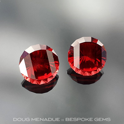 Malaia Garnet, Asscher Cut, Tanzania, #671 - Doug Menadue :: Bespoke Gems - Master gemcutter and lapidary artist specialising in fine custom cut precision gems from a wide range of select facet gem rough. Located in Sydney, Australia.