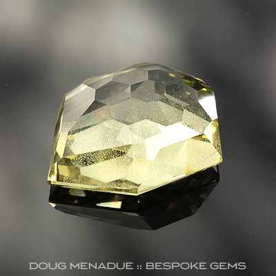 Golden Beryl, Freestyle Honeycomb, #683 - Doug Menadue :: Bespoke Gems - Finest quality custom precision gemcutting based in Sydney, Australia