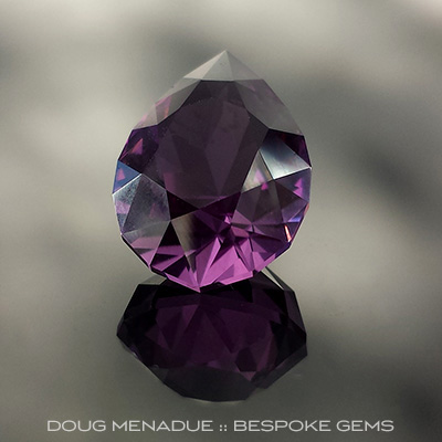 Amethyst, Utopia Pear, #693 - Doug Menadue :: Bespoke Gems - Finest quality custom precision gemcutting based in Sydney, Australia