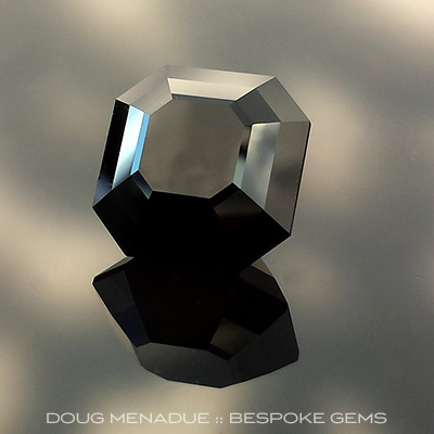 Black Spinel, Thailand, Asscher Cut, #695 - Doug Menadue :: Bespoke Gems - Master gemcutter and lapidary artist specialising in fine custom cut precision gems from a wide range of select facet gem rough. Located in Sydney, Australia.