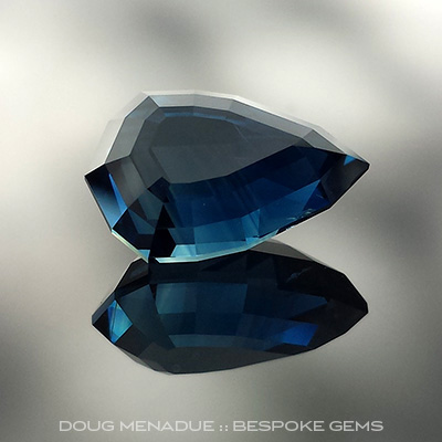 Sapphire, #707 - Doug Menadue :: Bespoke Gems - Master gemcutter and lapidary artist specialising in fine custom cut precision gems from a wide range of select facet gem rough. Located in Sydney, Australia.