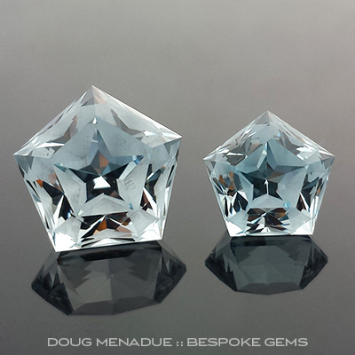 Natural Blue Topaz, Mystic Star, #719 - Doug Menadue :: Bespoke Gems - Master gemcutter and lapidary artist specialising in fine custom cut precision gems from a wide range of select facet gem rough. Located in Sydney, Australia.