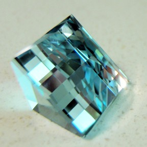 Topaz (Natural Blue), Mock Check Square, O'Briens Creek, Mt Surprise, Australia, #72