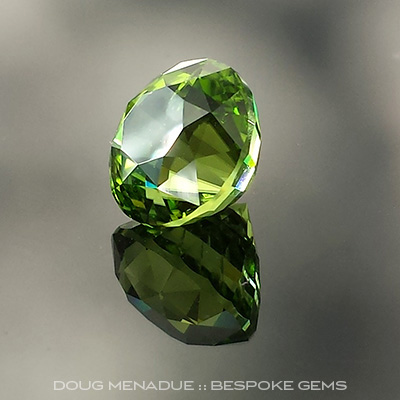 Peridot, Pakistan, Majestic, #732 - Doug Menadue :: Bespoke Gems - Master gemcutter and lapidary artist specialising in fine custom cut precision gems from a wide range of select facet gem rough. Located in Sydney, Australia.