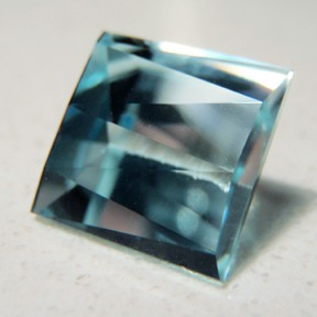 Topaz (Natural Blue), Square Ziggie, O'Briens Creek, Mt Surprise, Australia, #77 - Doug Menadue :: Bespoke Gems - Master gemcutter and lapidary artist specialising in fine custom cut precision gems from a wide range of select facet gem rough. Located in Sydney, Australia.