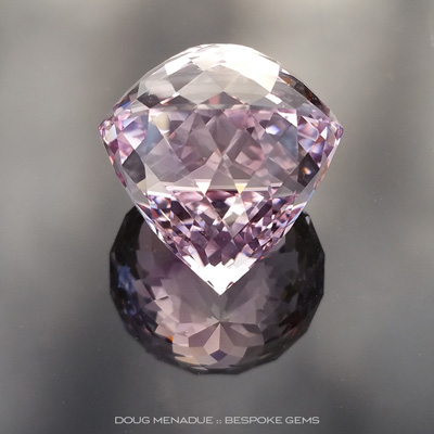 Rose de France Amethyst, Portuguese Double Cut, Brazil, #840 - Doug Menadue :: Bespoke Gems - Finest quality custom precision gemcutting based in Sydney, Australia