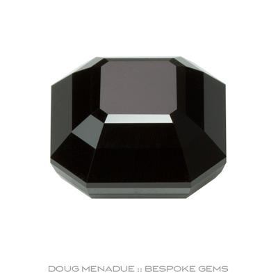 #879, Black Spinel, Rubyvale, Central Queensland, Australia, Signet Asscher - Doug Menadue :: Bespoke Gems - Finest quality custom precision gemcutting based in Sydney, Australia