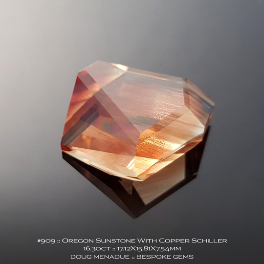 909, Sunstone Copper, Freeform, 16.30 Carats, 17.12X15.81X7.54mm - A beautiful natural Sunstone from Oregon - Doug Menadue :: Bespoke Gems :: WWW.BESPOKE-GEMS.COM - Finest Quality Precision Custom Gemcutting and Lapidary Services Based In Sydney Australia