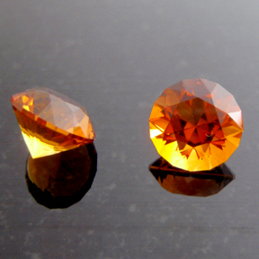 Citrine Madeira, Round Brilliant, #97 - Doug Menadue :: Bespoke Gems - Master gemcutter and lapidary artist specialising in fine custom cut precision gems from a wide range of select facet gem rough. Located in Sydney, Australia.