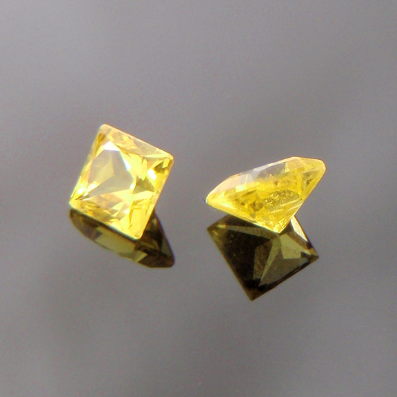 Yellow Sapphire, Princess Cut, Rubyvale, Gemfields, Central Qeensland, Australia, #bb21