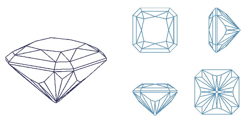Bespoke Gems Square Gem Designs