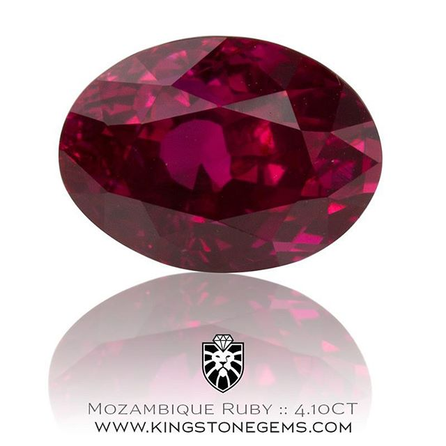 A beautiful 4.10 carat Mozambique ruby oval cut. A top class gem with excellent color and almost eye clean. This fine ruby is available for inspection this week in Sydney. Contact me for more information.  WWW.KINGSTONEGEMS.COM  SYDNEY CBD AUSTRALIA - Precision Gemcutting and Lapidary Services Located In Sydney Australia