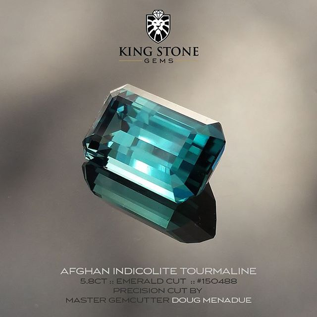 A superb 5.8 carat indicolite blue tourmaline from Afghanistan, a country which is renown for producing some of the most incredible gems in the world. This beautiful tourmaline gemstone was precision cut in the classic Emerald Cut design by master gemcutter,  Doug Menadue. It is available for sale. Click on the following link for full details :  http://www.kingstonegems.com/fine-loose-coloured-gemstones/afghan-blue-indicolite-tourmaline-emerald-cut-150488/  SYDNEY CBD AUSTRALIA  WWW.KINGSTONEGEMS.COM - Precision Gemcutting and Lapidary Services Located In Sydney Australia